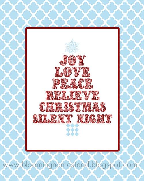 Christmas subway art: Joy, Love, Peace