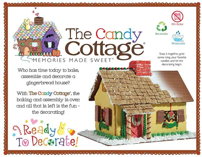 plastic reusable gingerbread house