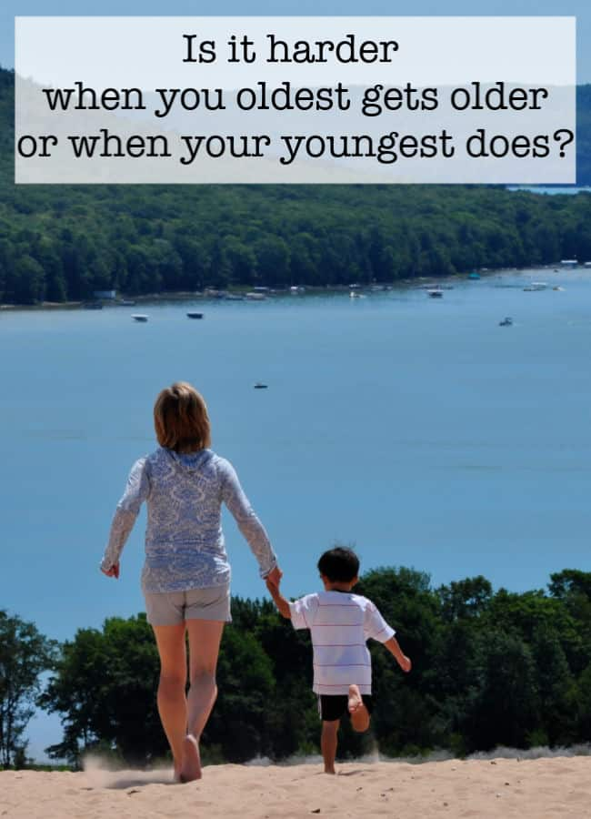 I wrote this post almost seven years ago- and I have to reveal that for me, the answers aren't any easier now than they were then. As a parent- do you find it harder to watch your oldest grow up? Or your youngest?
