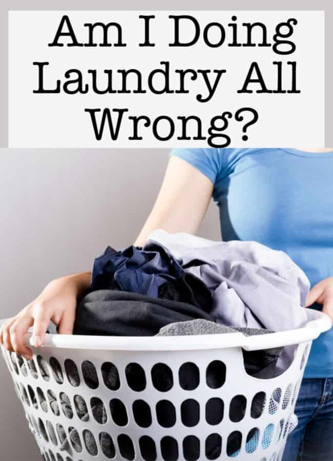 """When I came across a post on how to """"Revolutionize Your Laundry Routine""""- it literally stopped me in my tracks! AM I DOING LAUNDRY ALL WRONG?"""