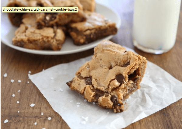Chocoalte Chip Salted Caramel Cookie Bars