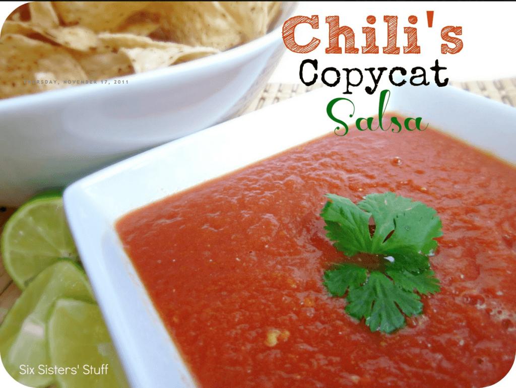 Copycat Chili's Salsa | Six Sisters Stuff