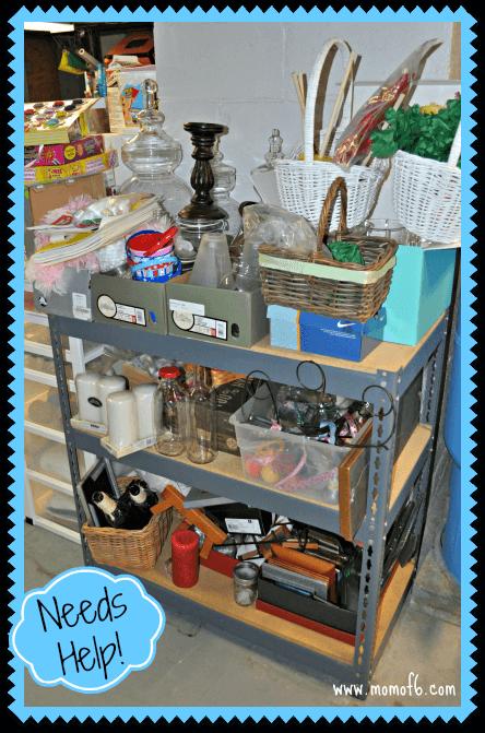 Home Decor Organization- Before