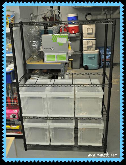 Home Decor Organization- my new unit and bins