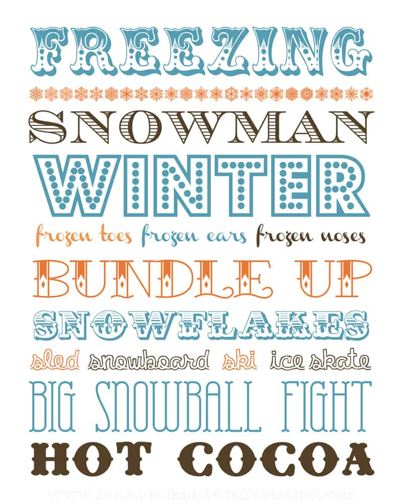 free printable subway art for winter
