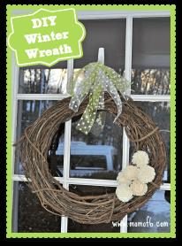 An Easy DIY Winter Wreath