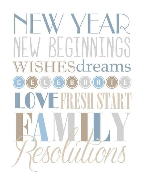 New Year New Beginnings art print