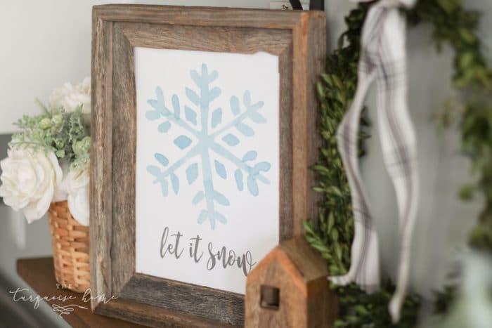 watercolor snowflake printable