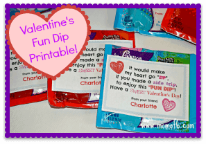 "A ""Fun Dip"" Valentine's Printable!"