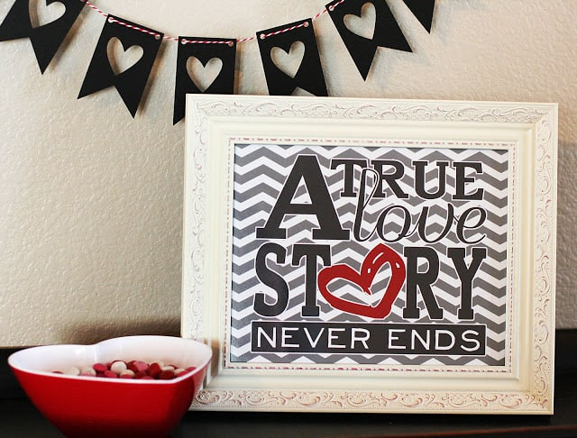 framed valentines art
