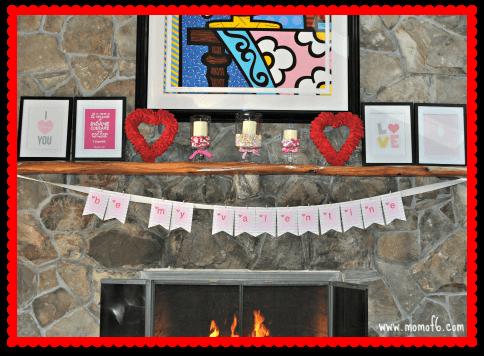 Valentine's Day Decor- Family Room
