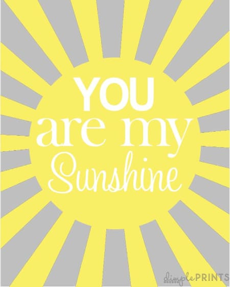 You are my Sunshine arteork