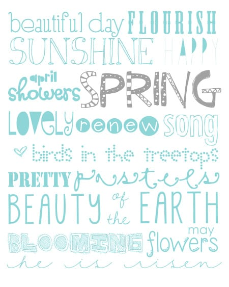 beautiful day spring art print