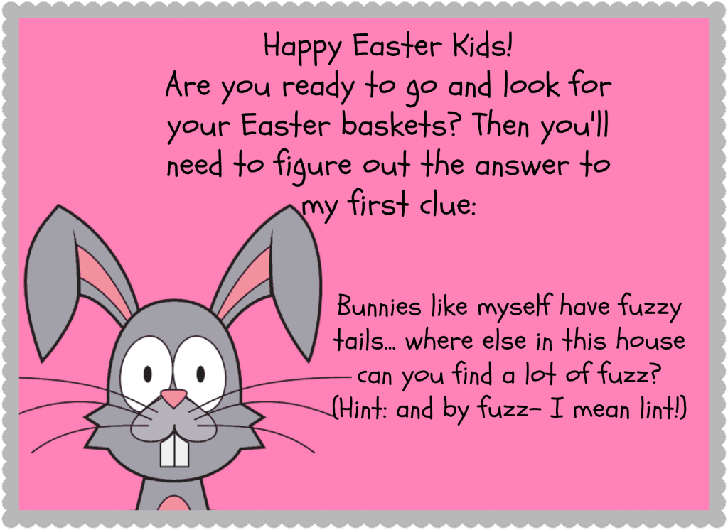 Easter bunny clue example
