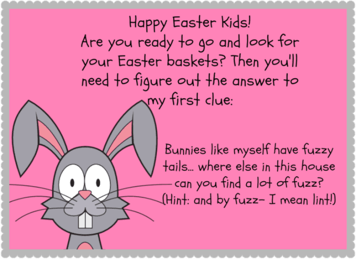The hunt for the easter baskets momof6 the next clue can be hidden in the dryer negle Gallery