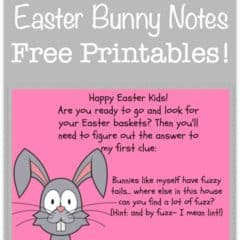 Easter Bunny Note (Free Printable)!