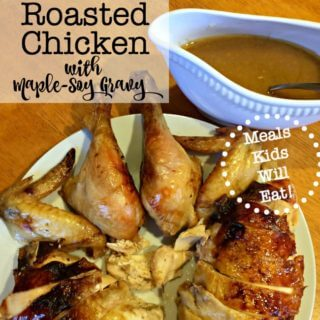 I love making a roasted chicken for Sunday dinner for my family. And this recipe for Roasted Chicken with Maple Soy Gravy is truly a family favorite!