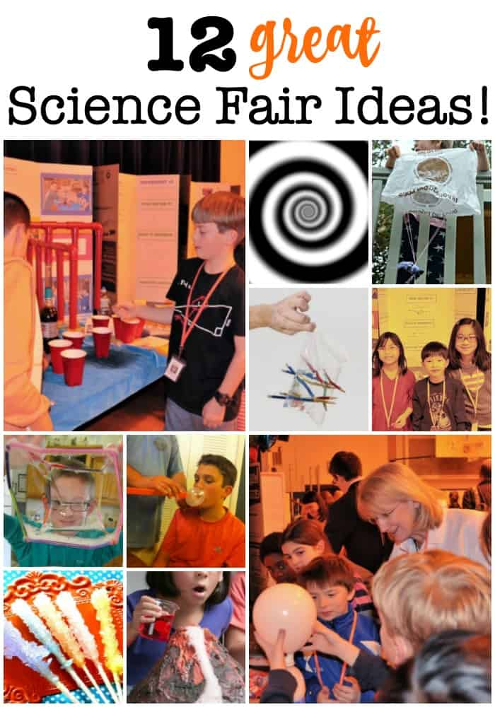 My kids say that the annual Science Fair is their favorite event at school! Here are 12 great science fair ideas that we've used to make our projects a success!