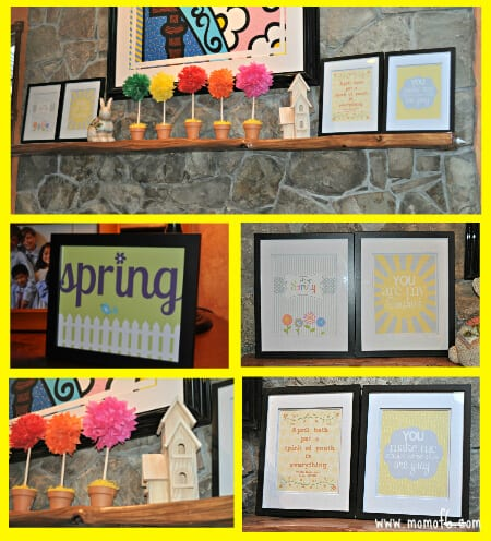 Spring Decor- Family Room