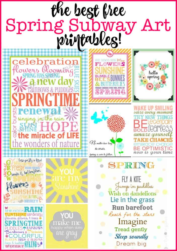 Decorating my home with free printable artwork is such a fun and festive way to celebrate the season! Here are my favorite free spring subway art printables!