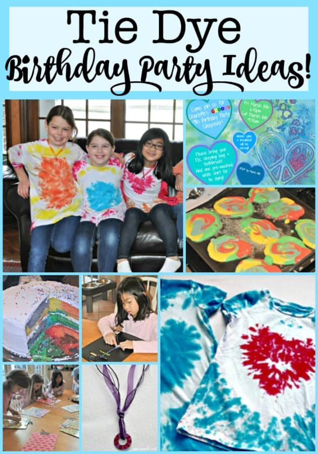 """My daughter loves everything to do with jewelry and crafting, so I thought it would be fun to throw her a """"groovy"""" tie dye party to celebrate her 9th birthday- and she loved it!"""
