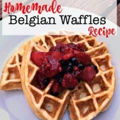 Homemade Belgian Waffle Recipe