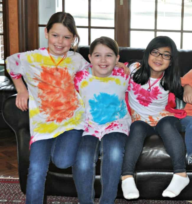 "My daughter loves everything to do with jewelry and crafting, so I thought it would be fun to throw her a ""groovy"" tie dye party to celebrate her 9th birthday- and she loved it!"
