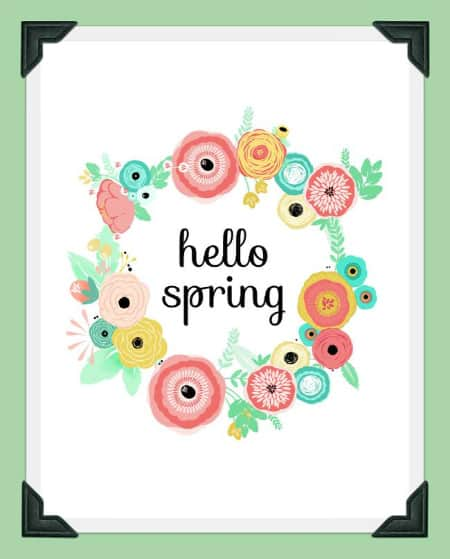 hello spring- free printable artwork