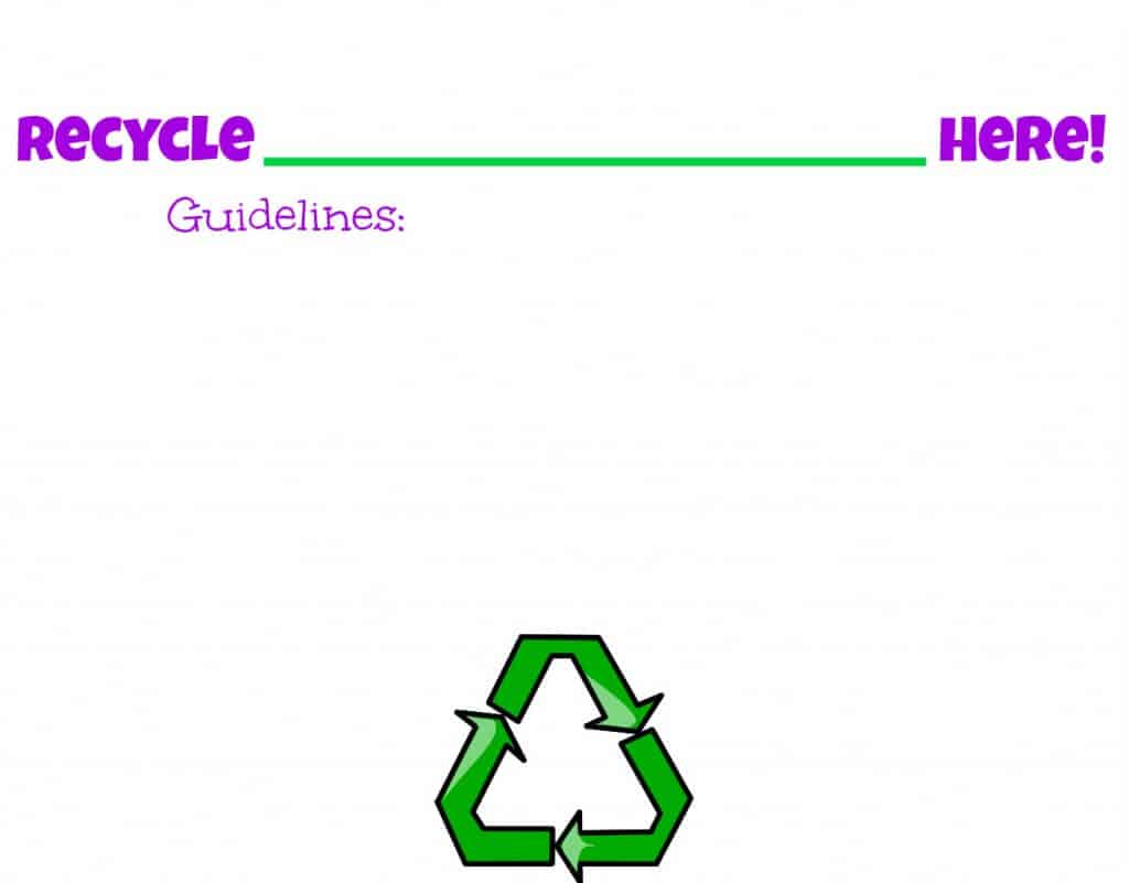 Blank Recycle Sign