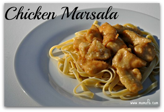 This Easy Chicken Marsala is one of my family's favorite dishes- and my kids request it almost every week! I love serving this chicken marsala as bite-sized pieces so I don't have to help the kids cut it up. Plus the smaller pieces do a better job of hugging the delicious sauce!