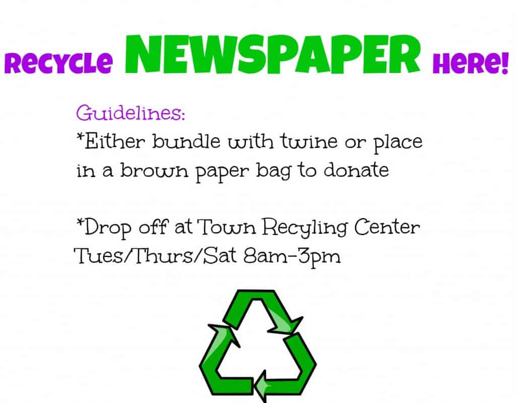 Recycle Newspaper Here