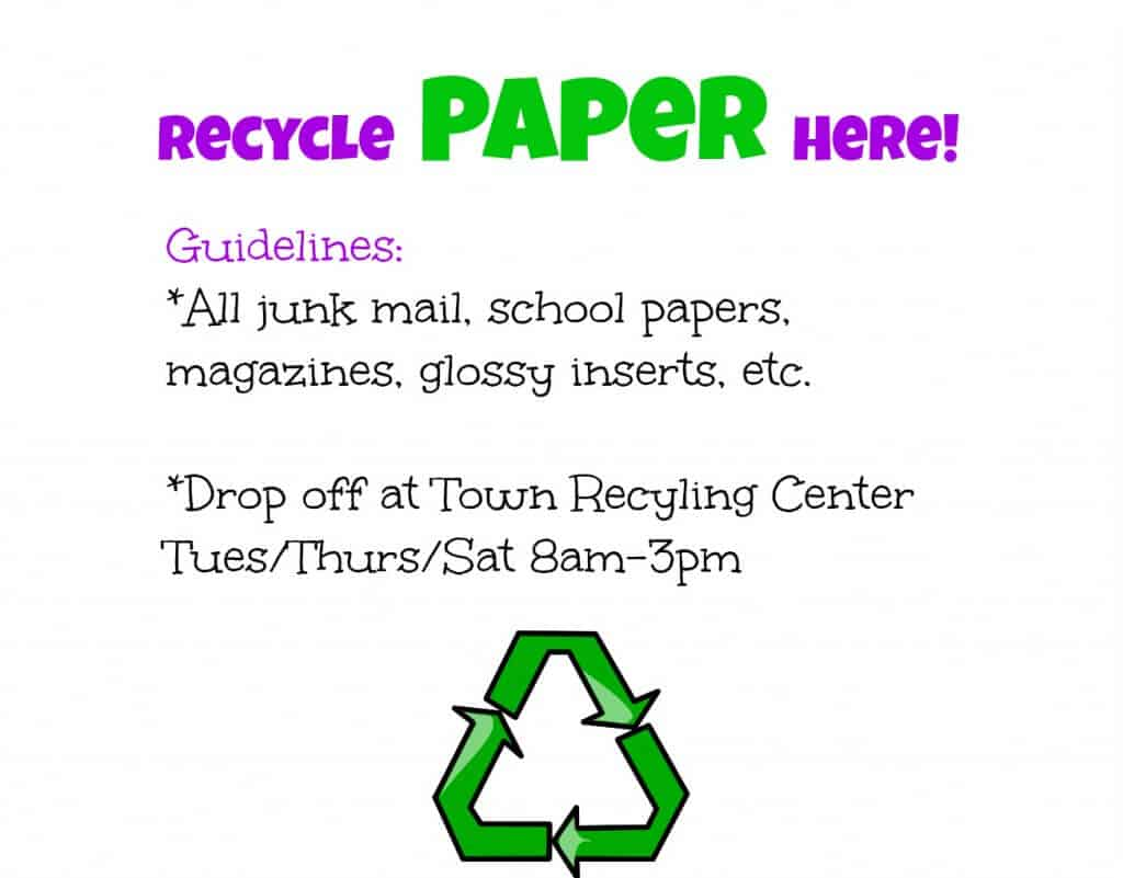 Recycle Paper Here