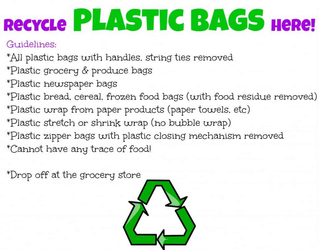 Recycle Plastic Bags Here