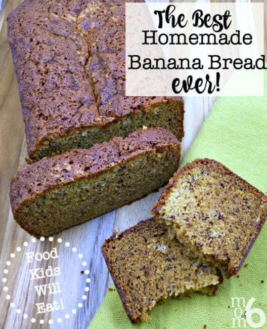 We eat a lot of fruit here at my house, which I buy in fairly large quantities each week at the grocery store. But when the bananas start getting all brown and spotty- suddenly no one wants to eat them! So what's a Mom to do? Why make the world's best homemade banana bread ever- of course! #BananaBread #Breakfast #Recipe #FoodKidsWillEat