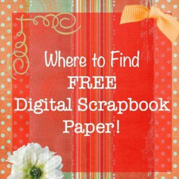 Where to Find Free Digital Scrapbook Paper! {Digital Scrapbooking Series}