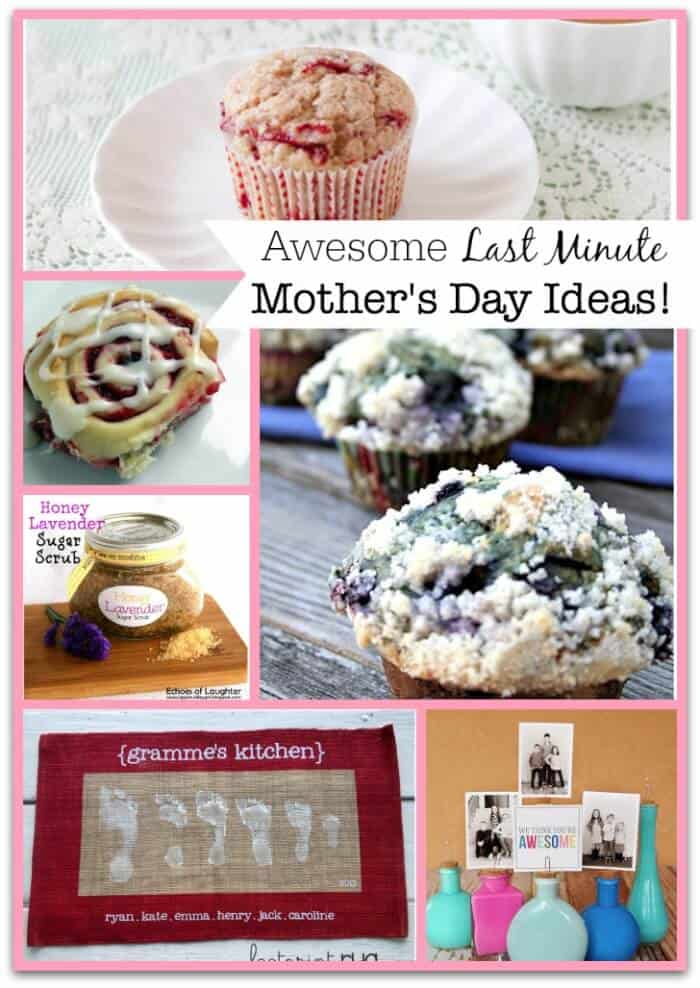 Here is a great collection of last minute Mother's Day ideas and recipes that you could use (or print them and leave them out for your husband and the kids to use!) to celebrate this special day!