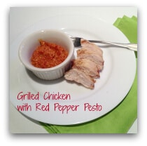 Grilled Chicken with Red Pepper Pesto Dip
