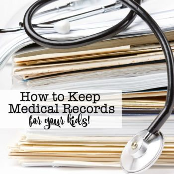 How to Keep Medical Records for Your Kids