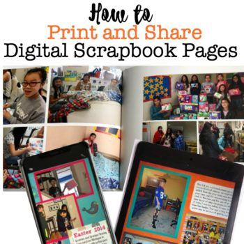 How to Print Digital Scrapbook Pages / How to Share Digital Scrapbooks