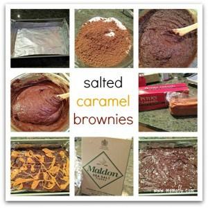 Easy Salted Caramel Brownies!