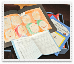 How to Store Kids Artwork, Report Cards, & School Projects {How to BE Organized}