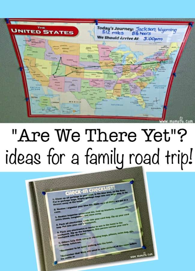 "I borrowed an idea that I had seen on an airplane trip, where the TV screen showed exactly where the plane was on the map. Here's how you can avoid the calls of ""Are We There Yet?"" on your family road trips!"