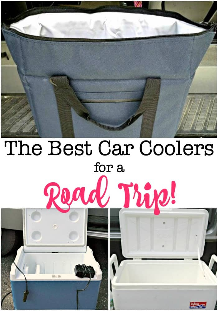 Here is a look at some of the best car coolers on the market; we own them, we've used them- and we know which ones work best for different kinds of road trips! #CarCoolers #RoadTrip #FamilyRoadTrips