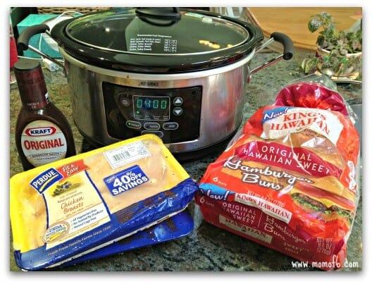 Easy Crockpot Meals- BBQ Chicken Sandwiches1