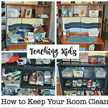 Teaching Kids How to Keep Your Room Clean {in 4 Easy Steps!}