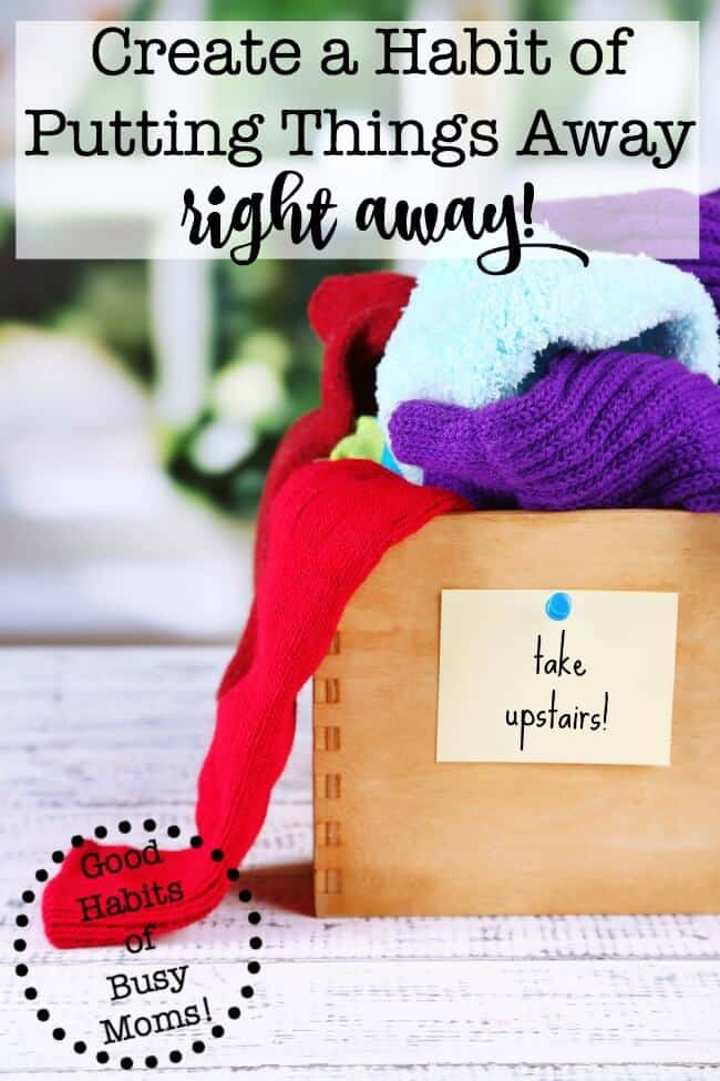 This is such a simple tip but it truly is one of the best ways to get organized. Creating the habit of putting things away right away is incredibly powerful. Let this post help you set that habit today!
