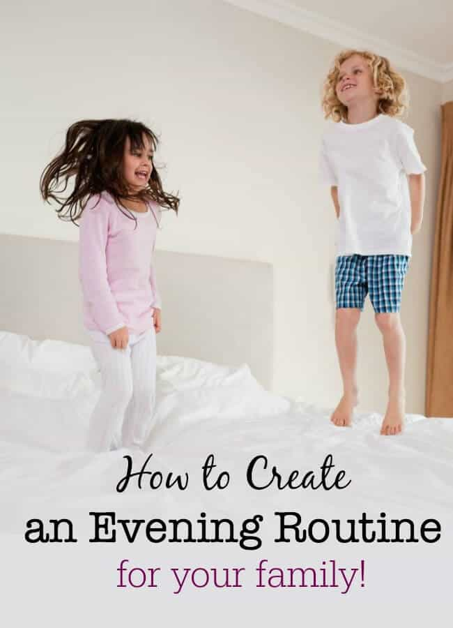 Routines are habits that you create for yourself and your family to get things done at a specific time of day- so here's how to create a night time routine for your family that sets you up for the next day!