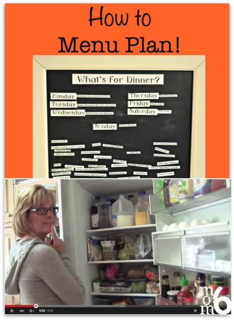 Menu planning is truly one of the best tools you can use in your quest to organize your life! This post teaches exactly how to menu plan (c'mon- you can DO this!)