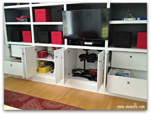 playroom makeover- cabinets