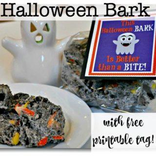 Halloween Bark (With Free Printable Tag!)